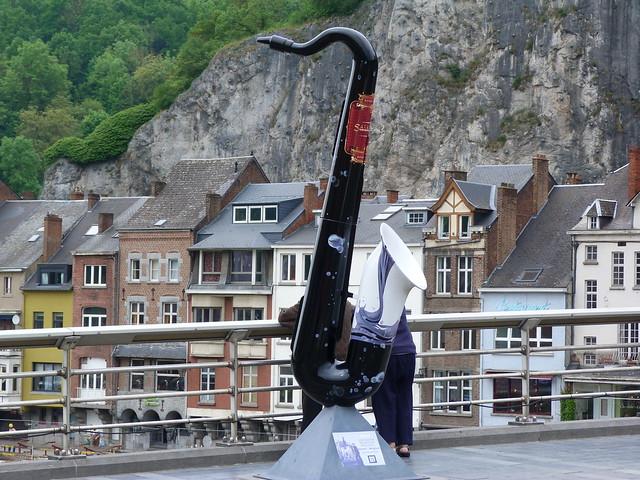Saxofón en Dinant (Valonia, Bélgica)