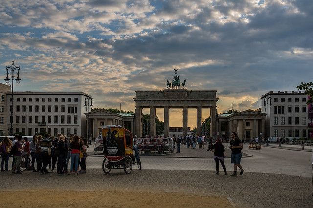 Brandenburger Tor in the  evening