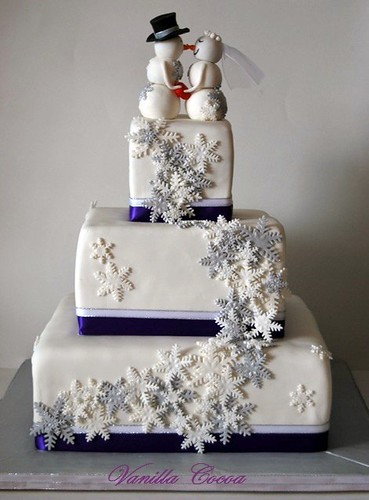 snowflake wedding cake | by Cocoa Claudia