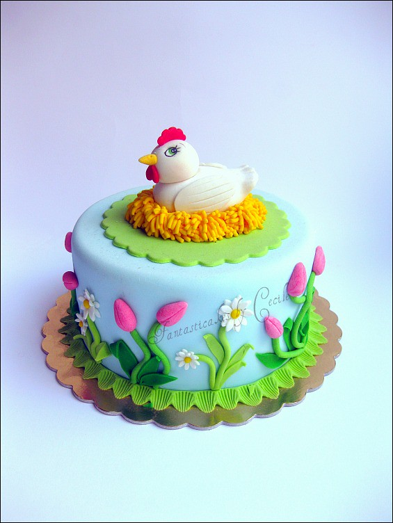 Chicken Decorated Cakes
