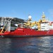 Ice Patrol Vessel HMS Protector in the Antarctic