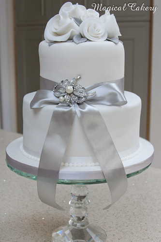 Silver wedding anniversary cake | by Magical Cakery (Andria)