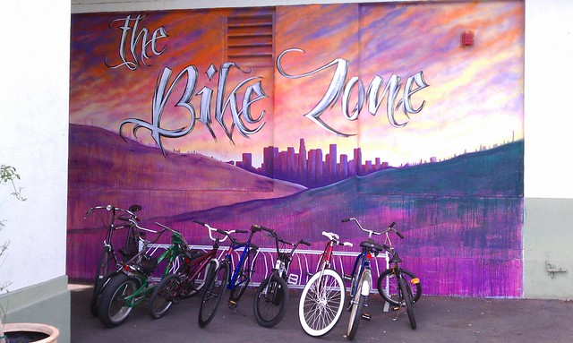 The bike zone mural at nightingale middle school in for Cypress gardens mural