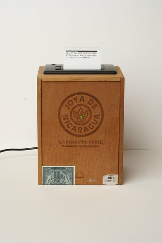 Cigar-box thermal printer. | by Rob Cruickshank