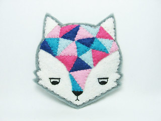 Annoyed urban fox felt brooch | by hanaletters