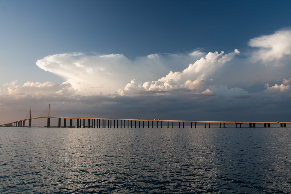 Sunshine skyway bridge tampa bay from the south fishing for Skyway fishing report