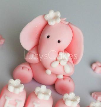Elephant Birthday Or Christening Cake Topper Please
