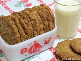 Soft and Chewy Oatmeal Coconut Cookies made with unsweetened coconut | by Farmgirl Susan