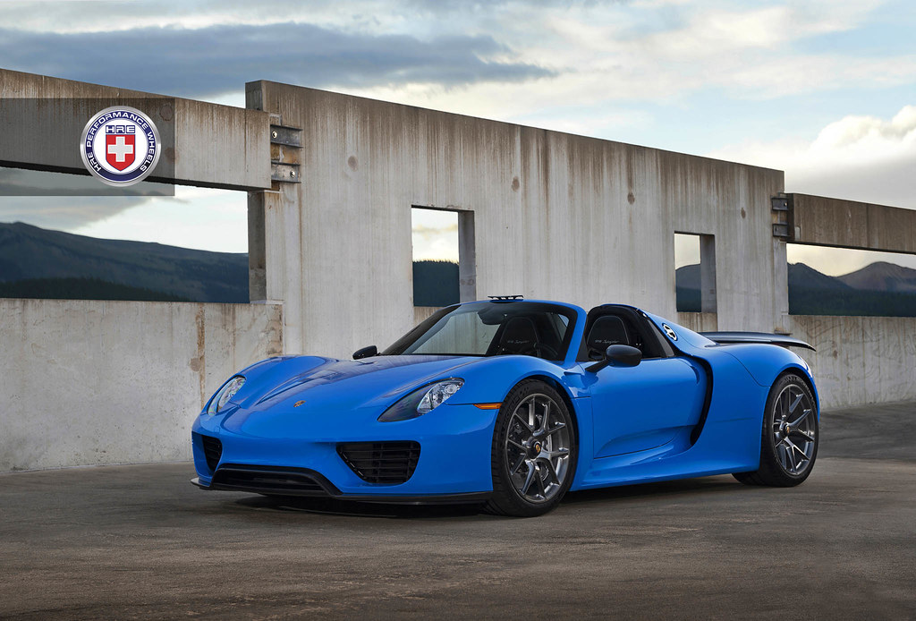 hre wheels voodoo blue porsche 918 spyder with hre p101. Black Bedroom Furniture Sets. Home Design Ideas