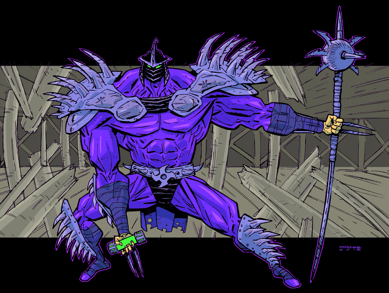 how to draw super shredder