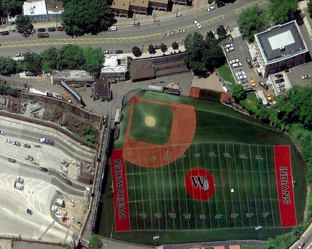 Weehawken Stadium And Lincoln Tunnel Entrance New Jersey