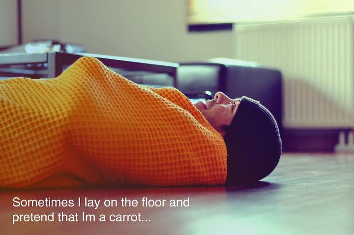 Sometimes I Lay On The Floor And Pretend That Im A Carrot | Flickr
