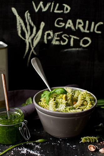 Wild garlic pesto fusilli | by bognarreni