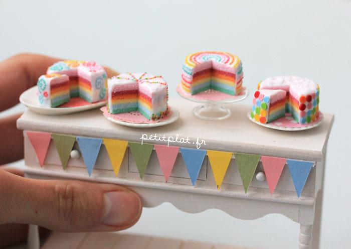 Mini Rainbow Cake Recipe