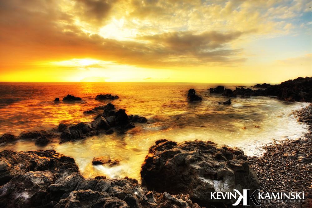 kona hawaii beach landscape orange sunset covering the haw flickr. Black Bedroom Furniture Sets. Home Design Ideas