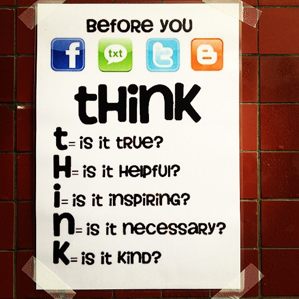 Before You Post: Think