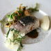 Confit Arctic Char - Cauliflower couscous, Crayfish and Burned bread