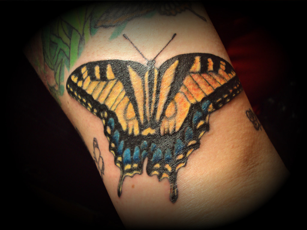 Realistic butterfly tattoo | Tiger Swallowtail | Cody ...