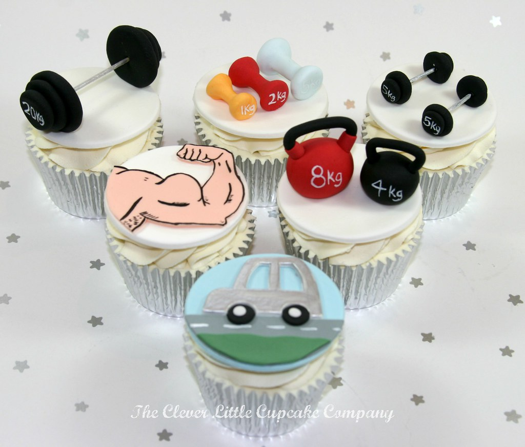 Gym Cupcakes Also Included Is The Young Man S New Silver