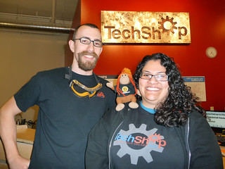 Andy and Michelle at TechShop San Jose | by thinkgeekmonkeys