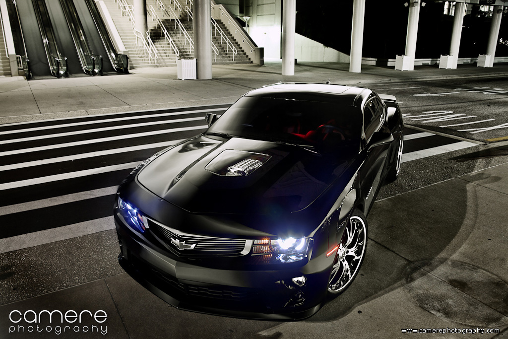 5th Gen 2010 Camaro Ss Black With Zl1 Front End Flickr