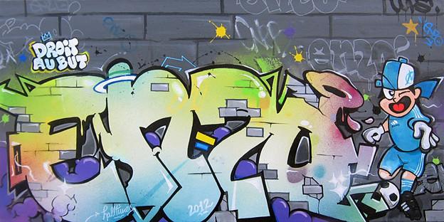 Tableau graffiti enzo le halltimes studio r alise - Prenom en tag ...