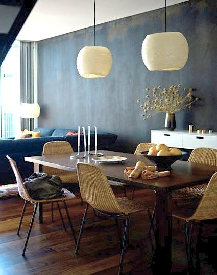 modern dining room with scandinavian wallpaper   Maree Homer {eclectic vintage scandinavian modern dining r ...