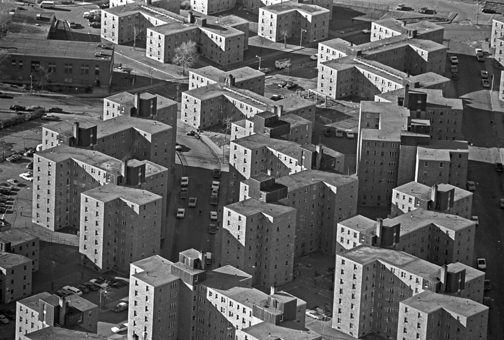 Columbia Point housing project aerial, Boston | File name ...