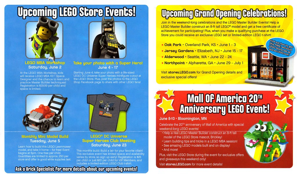 LEGO Store Calendar June 2012 | Barely scratchin' the surfac… | Flickr