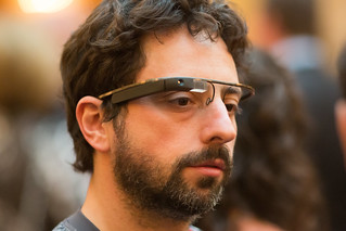 Google Co-Founder Sergey Brin Sports the New Google Glasses at Dinner in the Dark, a Benefit for the Foundation Fighting Blindness -- San Francisco, CA | by Thomas Hawk