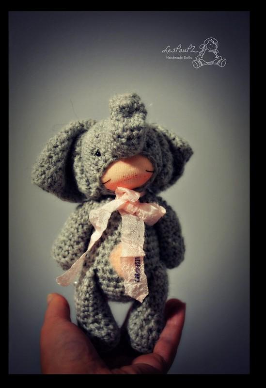 Titi Elephant, by LesPouPZ Handmade Dolls