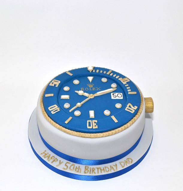 Rolex Birthday Cake