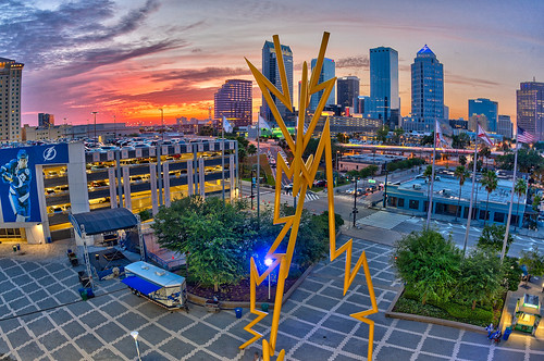 Tampa Bay Times Forum Party Deck Sunset | by Photomatt28