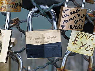 bonnie and clyde - Pont des Arts, Paris | by David Lebovitz