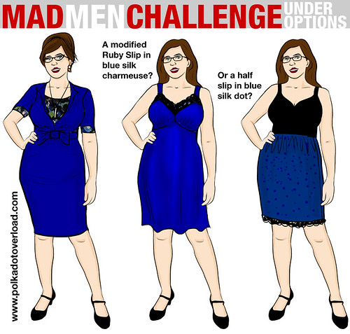 Mad Men Sewing Challenge Sketch 2: Under Options | by M1khaela