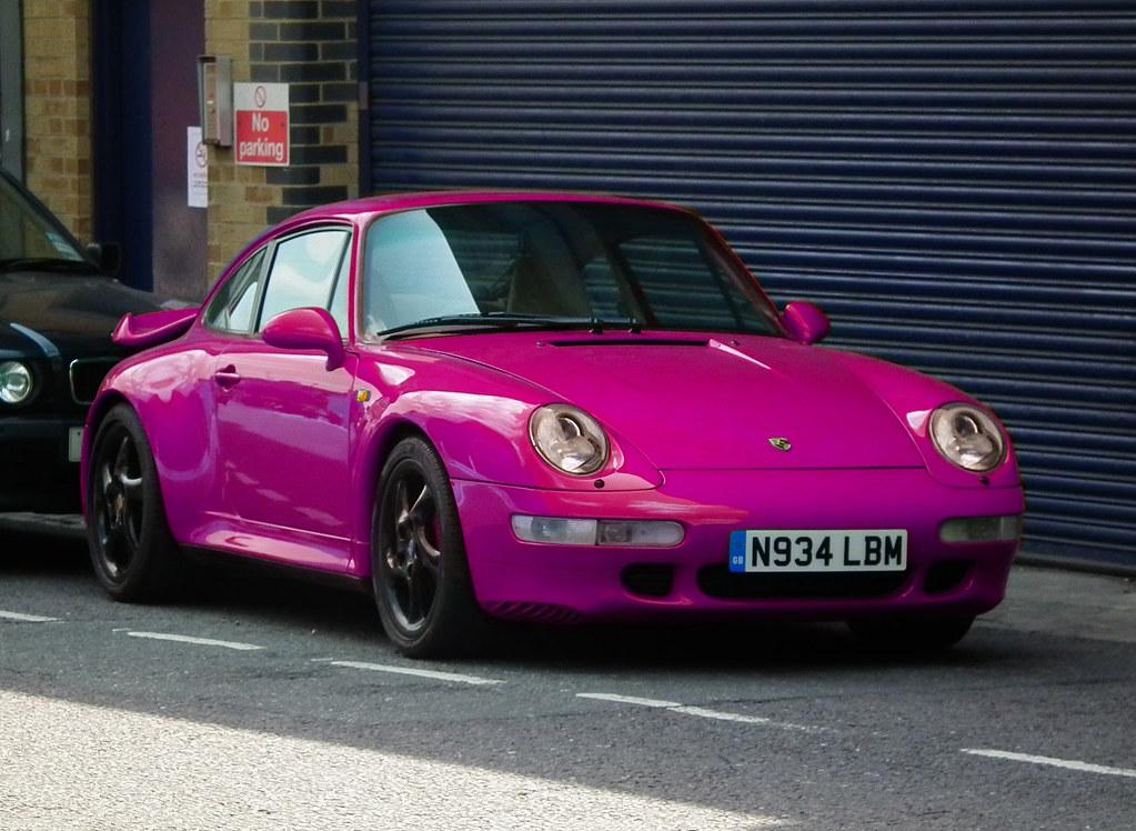Pink Porsche Parked 1995 Porsche 911 993 Turbo