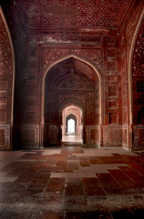 Arched doorways on the grounds of the Taj Mahal | by jessolo