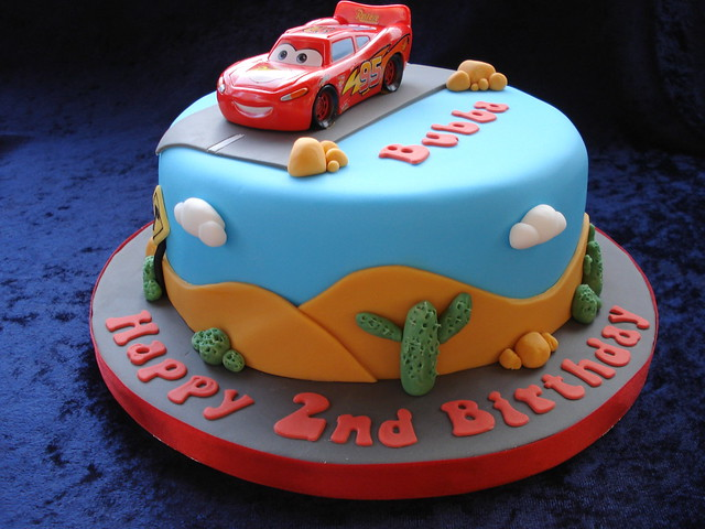 My Babys 3rd Birthday Cars Themed Party Cakes