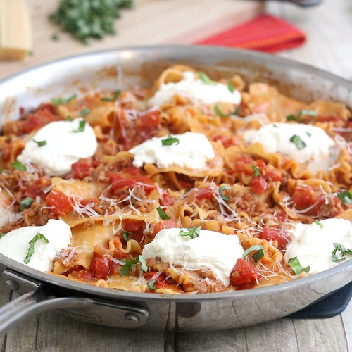 Skillet Lasagna | by Tracey's Culinary Adventures