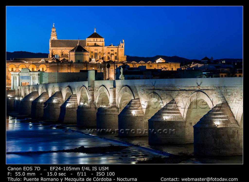 Puente romano y mezquita de c rdoba nocturna puente - Mezquita de cordoba visita nocturna ...