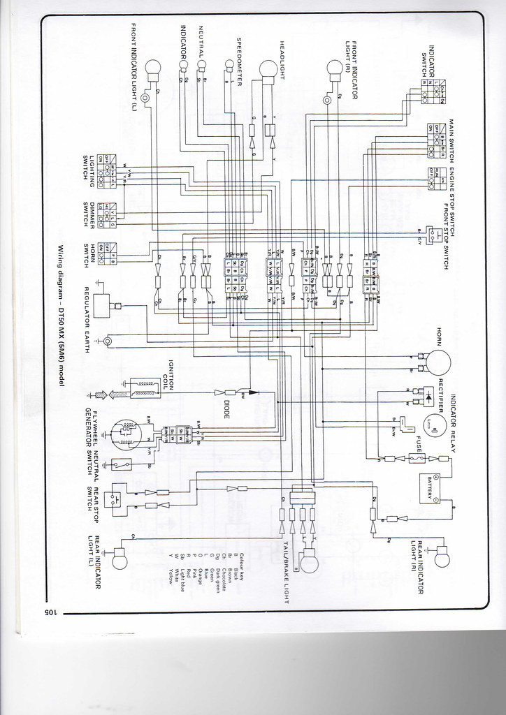 yamaha dt50 wiring diagram chris wheal flickr yamaha golf cart wiring diagram yamaha dt50 wiring diagram by whealie