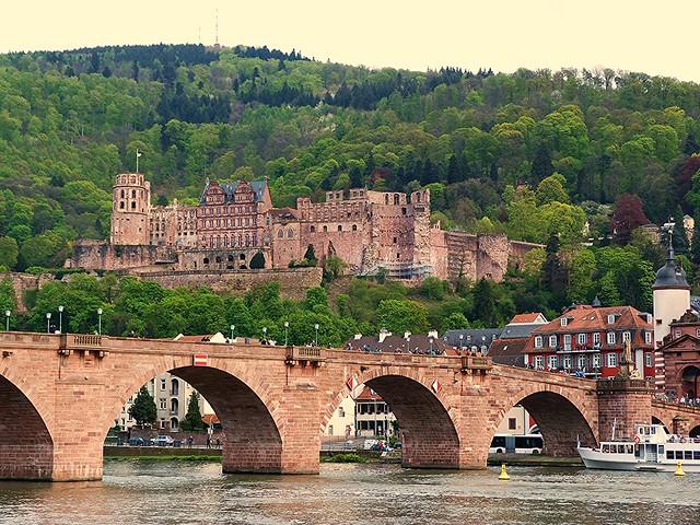 Vista de Heidelberg desde la otra orilla del Neckar
