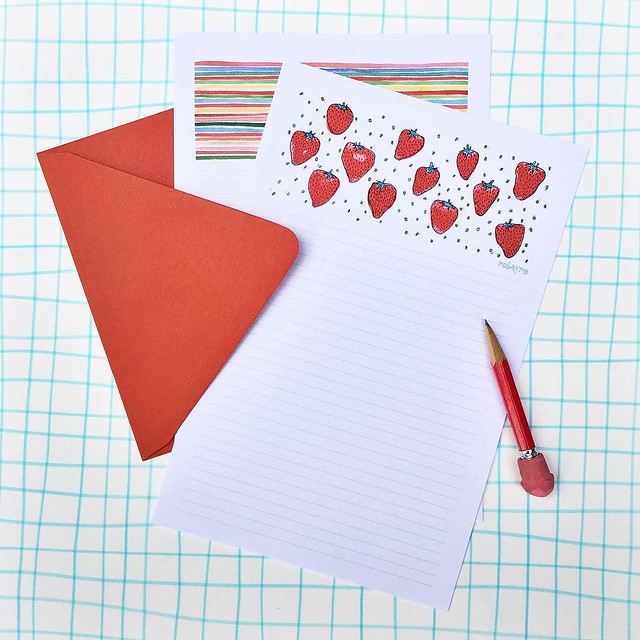 Day 31/100 #robayre100days strawberry letter writing stationery set