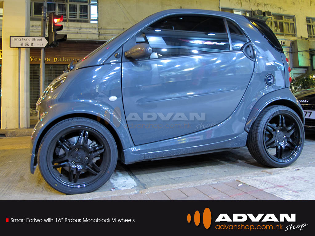 smart fortwo with 16 brabus monoblock vi wheels smart. Black Bedroom Furniture Sets. Home Design Ideas