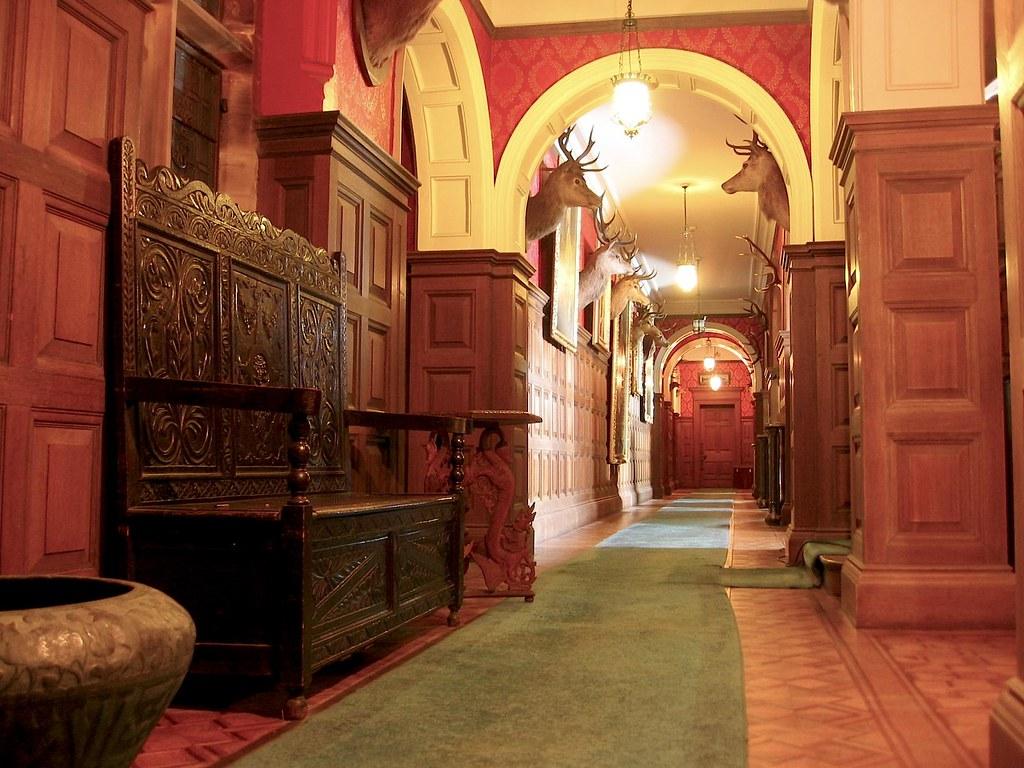 Kinloch Castle Corridor | Interior Corridor of Kinloch Castl ...