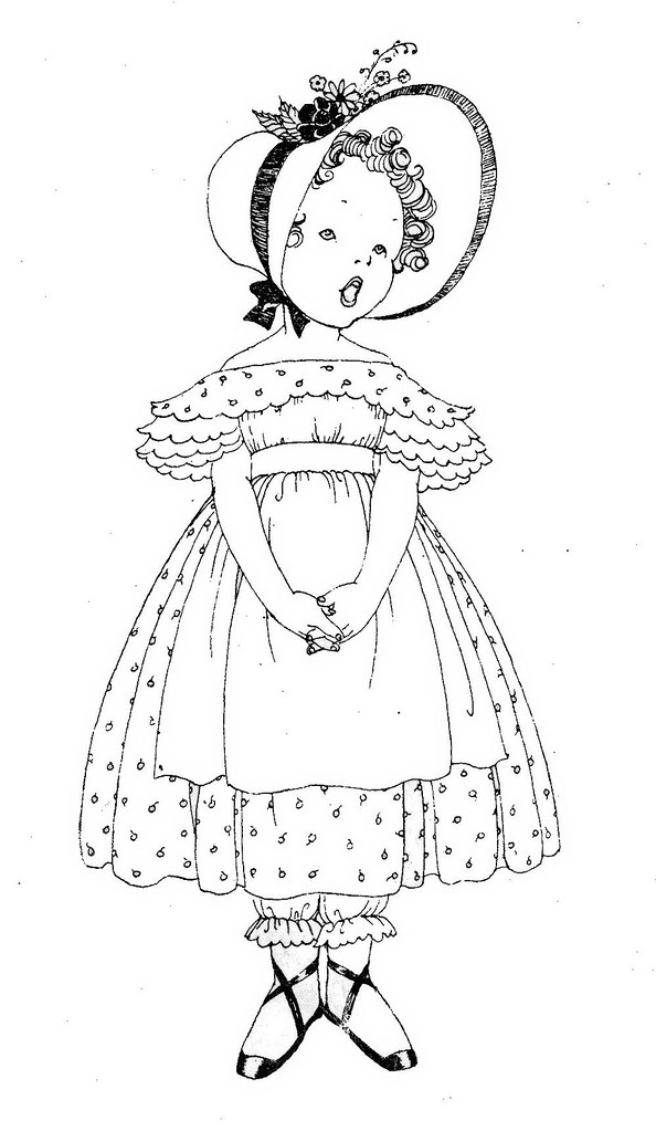 Line Drawing Little Girl : Girl line drawing