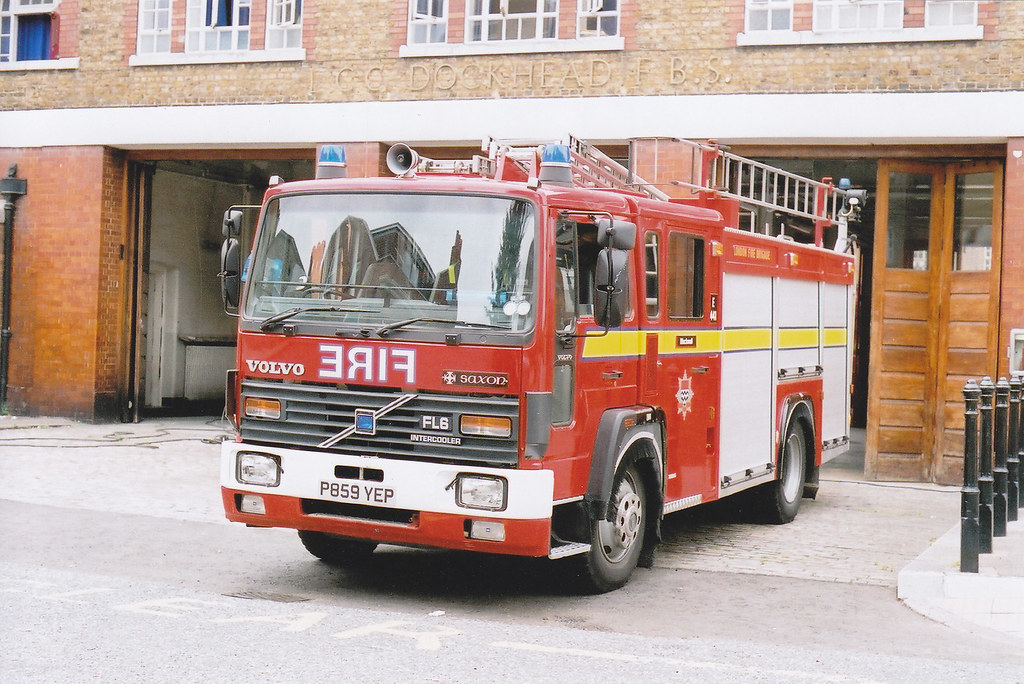 P859 Yep Volvo Fl6 14 Saxon Sanbec Pump Ladder Used In