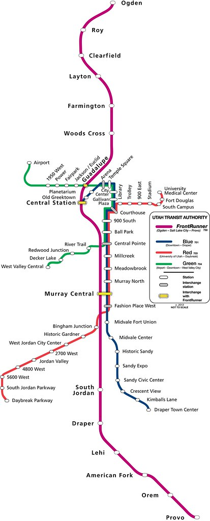 Utah Transit Authority Rail System Trax And Frontrunner