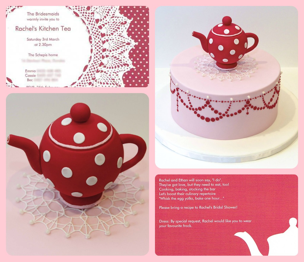kitchen tea cake collage design inspiration taken from the