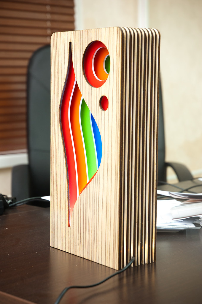 Led Lamp Made Of Plywood David Bayramyan Flickr